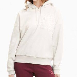 NWT Puma TFS Pocket Pullover Polarfleece Hoodie